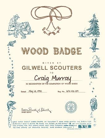 Wood Badge Certificate Projects To Try Pinterest Certificate