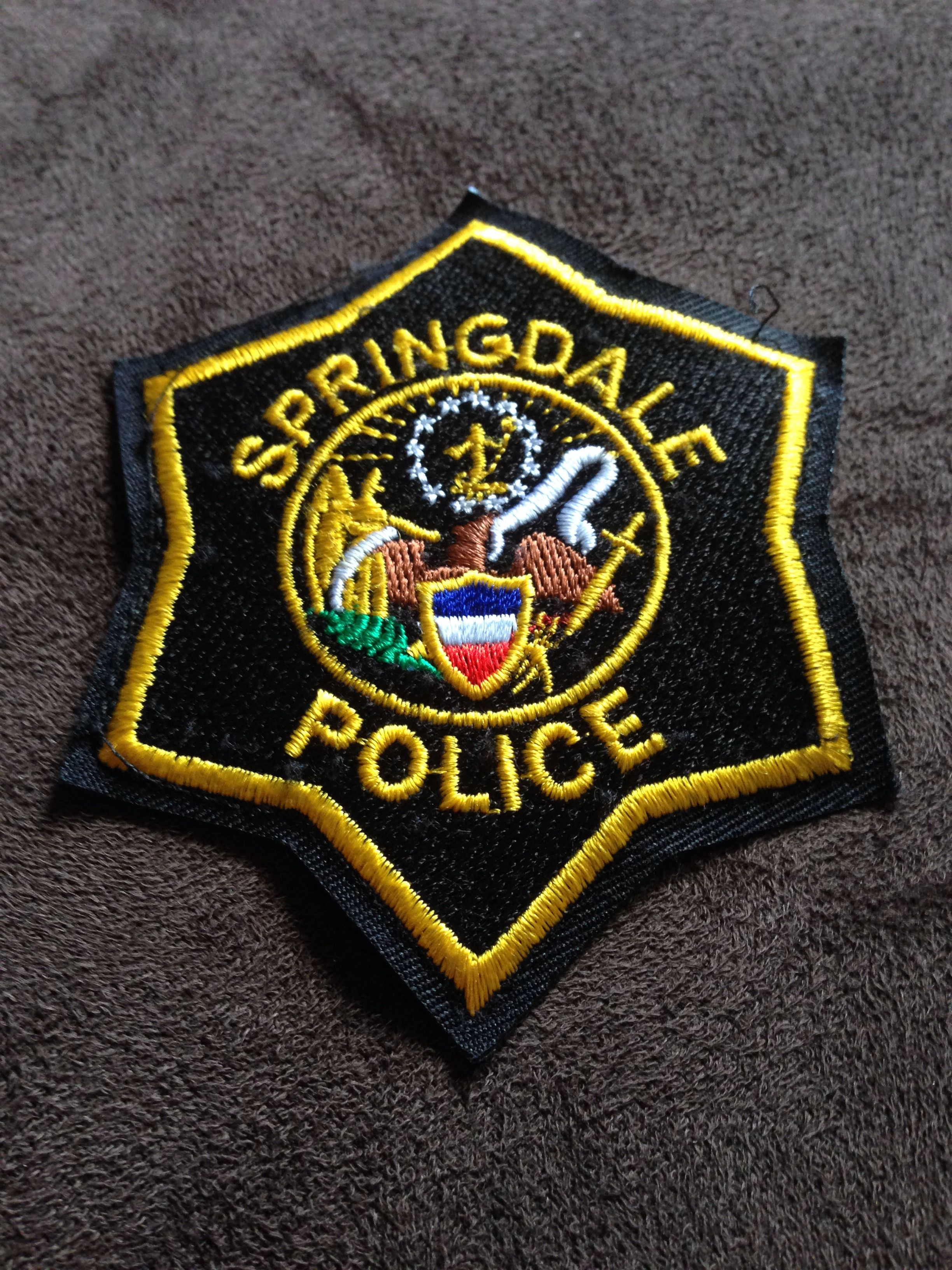 Springdale Police Department Current Police Badge Police Police Uniforms