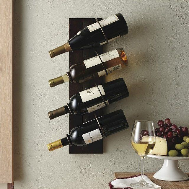 4 Bottle Wall Mount Wine Holder Your Storehouse Of Classic