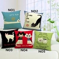 ★Material:  Cotton and Linen ★Size:45*45cm(about 18  *18 inch) ★Color: Multi-Color (pattern just one