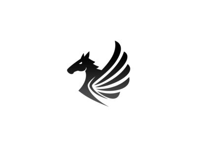 Pegasus Logo Template Pegasus Logo Horse Logo Design Pegasus