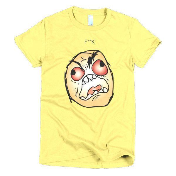F**K Meme - Bright Background - Short sleeve women's t-shirt
