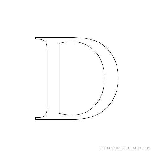 Alphabet Stencils To Print Times New Roman  Free Printable
