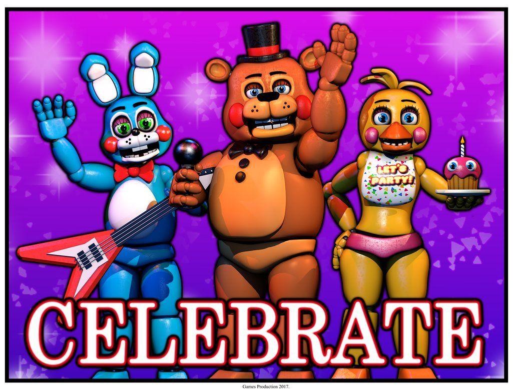 FNAF 2 - Celebrate Poster by GamesProduction | Fnaf | Fnaf, Five