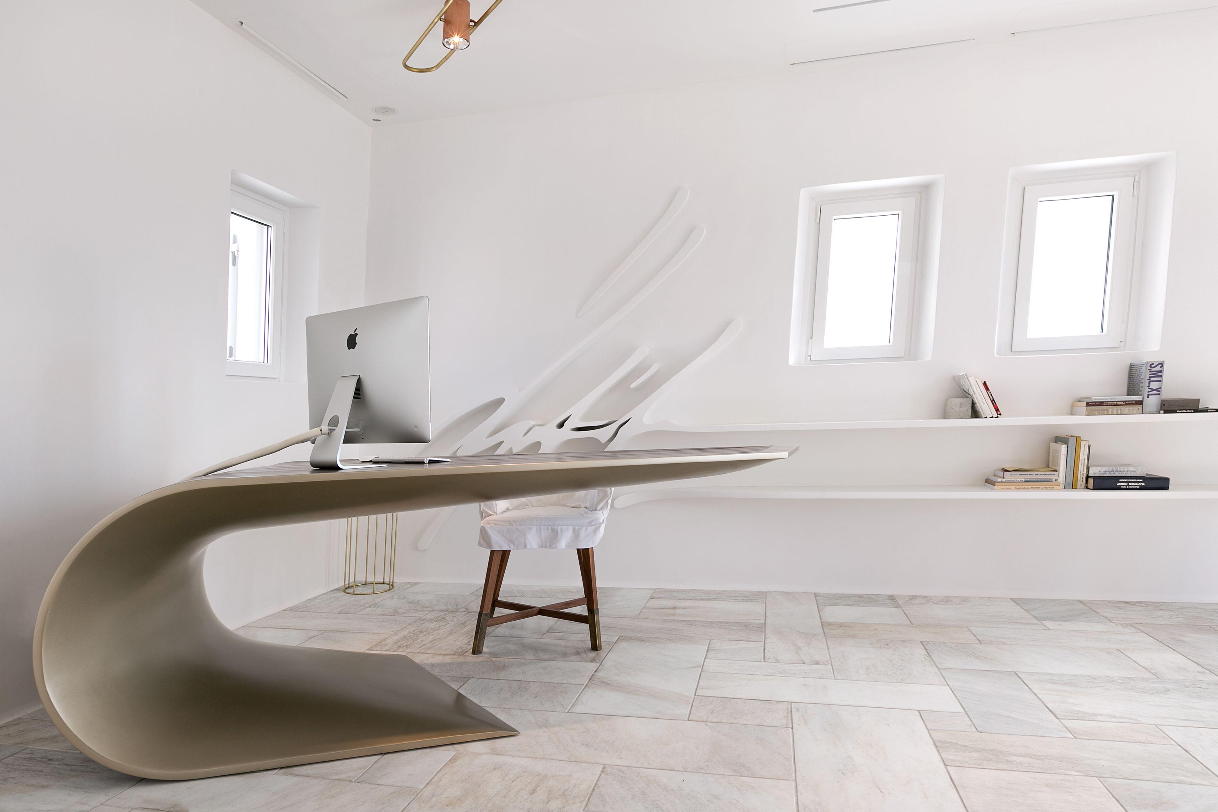 Mykonos Office Design Eleftherios Ambatzis Structural Engineer Spyridon Apostolou Interior Design Home Decor Interior