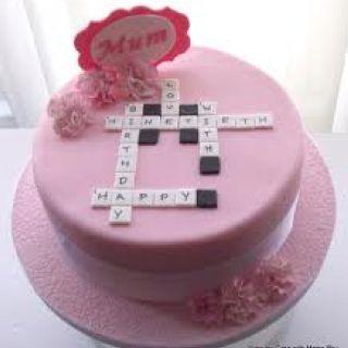 Crossword puzzle cake idea