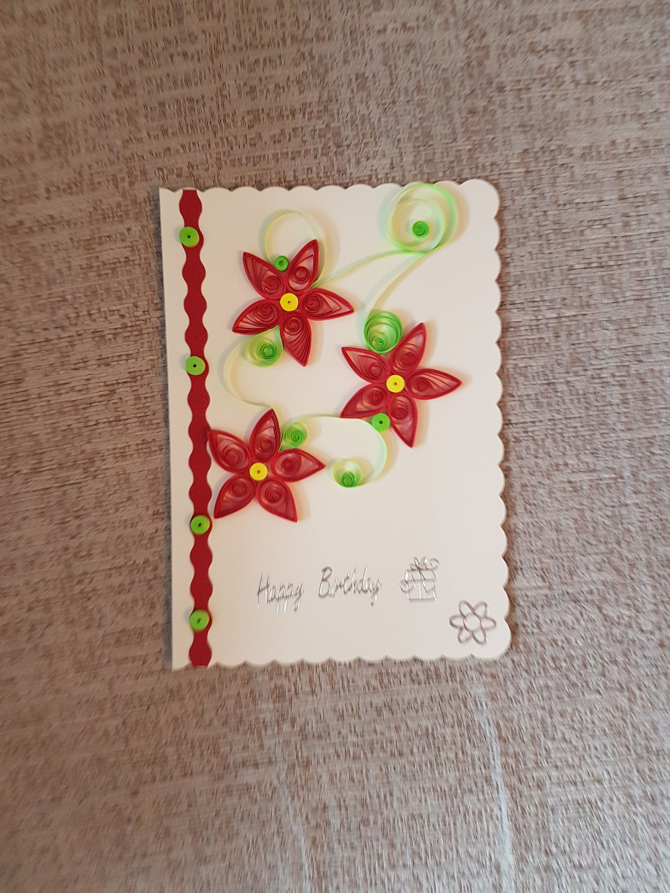 Handmade quilling greeting birthday card with flowers quilling handmade quilling greeting birthday card with flowers izmirmasajfo