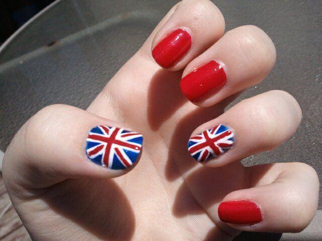 British flag nails | Trendy | Pinterest | British flag nails, Flag ...