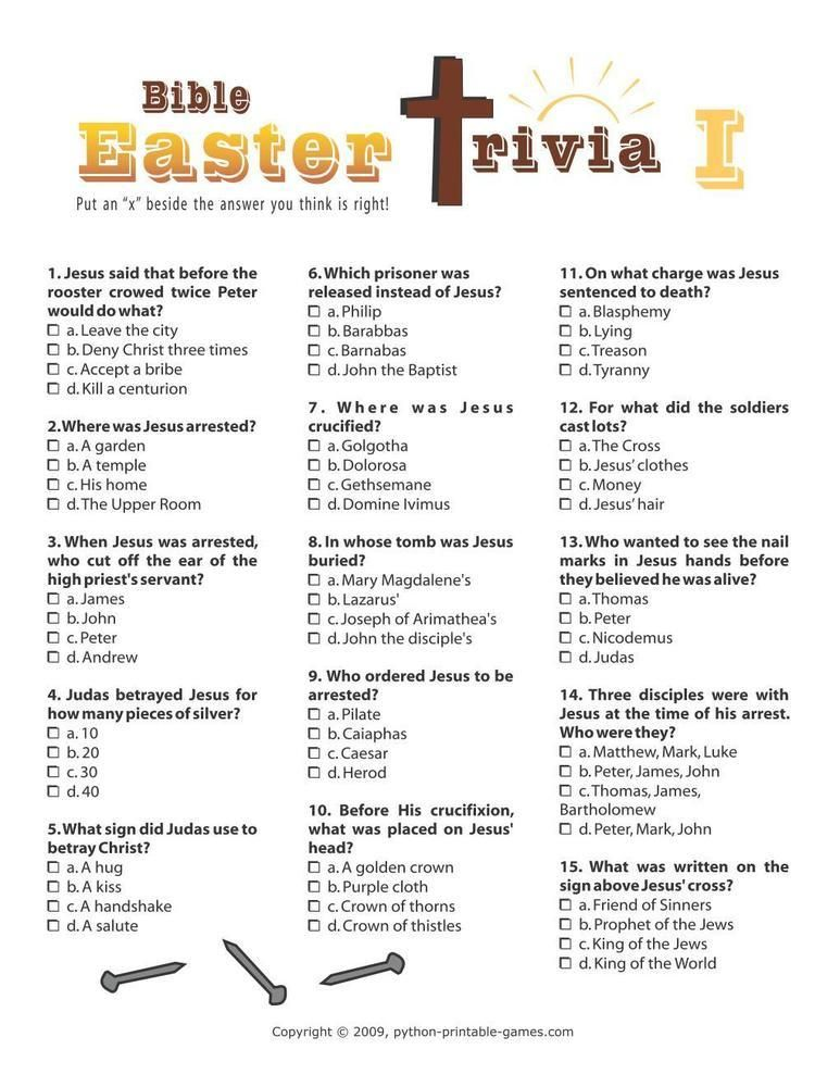 Vibrant image with regard to easter trivia printable