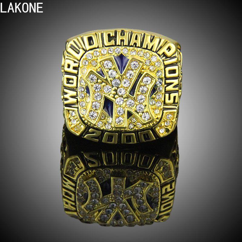 Lakone Champions Ring 2000 New York Yankees World Baseball Championship Ring Sports Fans Ring Men Gift Ring World Baseball Championship Rings Ring Gift