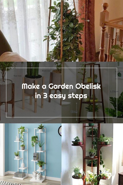 Make a Garden Obelisk in 12 easy steps. An easy IKEA hack. DIY