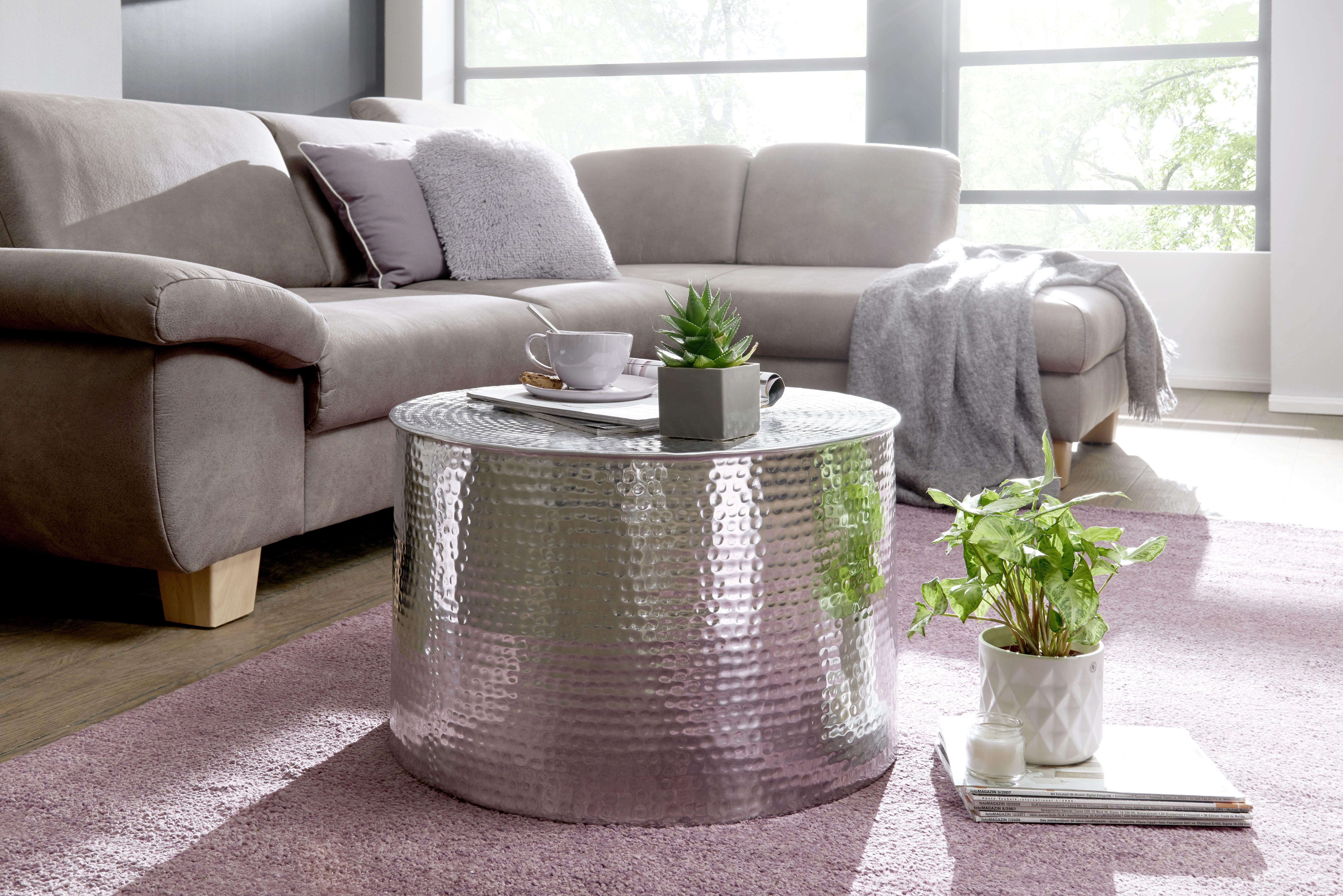 Wohnling Couchtisch Silber Wl5 481 Aus Aluminium Silber Metall Wohnidee Dekoration Ablage Wohnen Zylinder Couchtisch Silber Couchtisch Metall Couchtisch