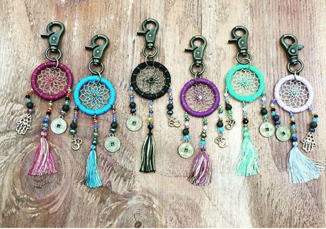 dream catcher key chain purse clips dreamcatchers. Black Bedroom Furniture Sets. Home Design Ideas