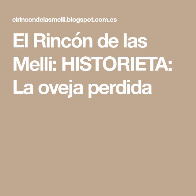 El Rincón de las Melli: HISTORIETA: La oveja perdida