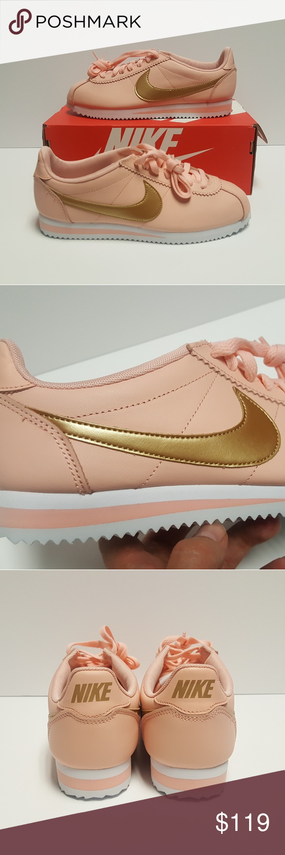 separation shoes f5236 9c542 Nike Classic Cortez Leather Women s Peach Orange Nike Classic Cortez  Leather Women s Size 8 New Peach