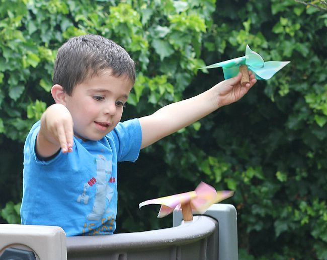 Paper Helicopter Pinwheel With Free Template | Steam Activities