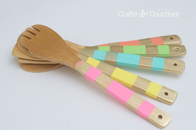 Use Dishwasher Safe Mod Podge For This Unique Wooden Spoon Makeover These Are So Colorful And Make Great Gi Dishwasher Safe Mod Podge Wooden Spoons Mod Podge