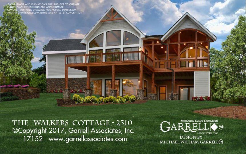 Walkers Cottage 2510 17152 Garrell Associates Inc Sloping Lot House Plan Craftsman House Plans Craftsman Cottage