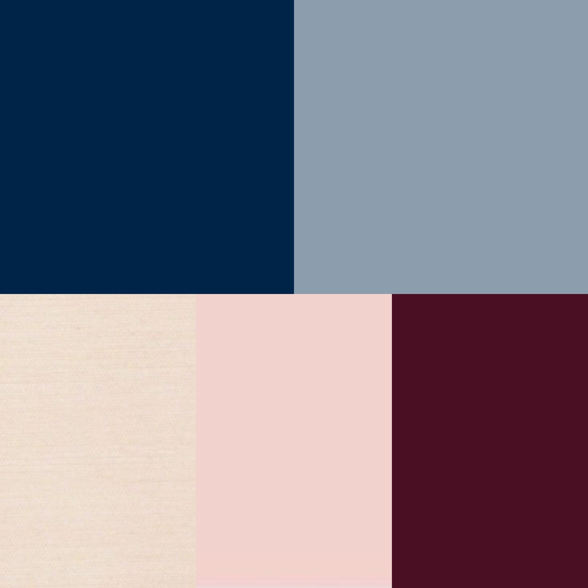 Navy Dusty Blue Champagne Blush And Burgundy Color Scheme Burgundy Color Scheme Blue Color Schemes Navy Color Palette