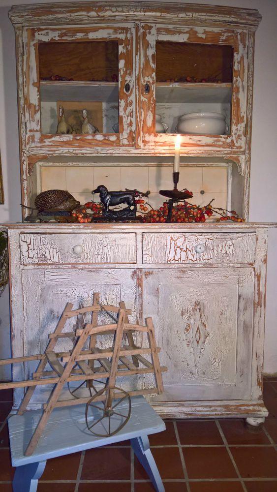 antikes Küchenbüffet Küchenschrank Küchenbufett Shabby Vintage ...