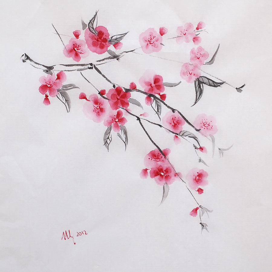 Fine watercolor art for sale - Sakura Drawing By Natalia Stangrit Sakura Fine Art Prints And Posters For Sale