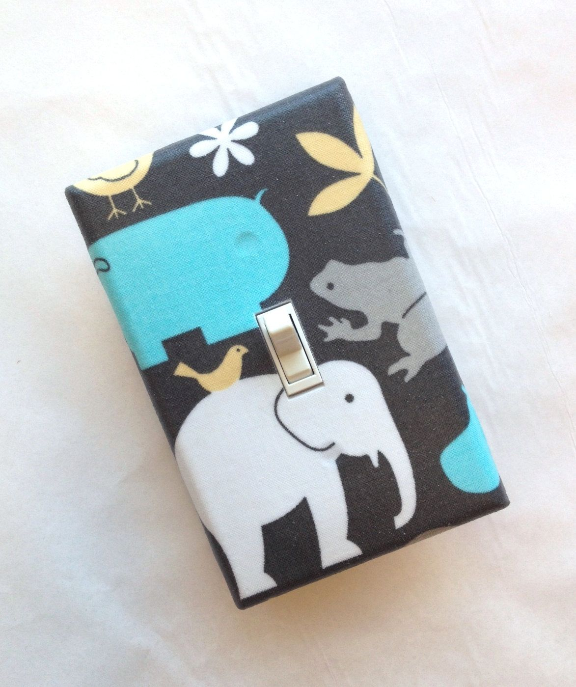 Elephant Light Switch Plate Cover Baby Boy Nursery Decor