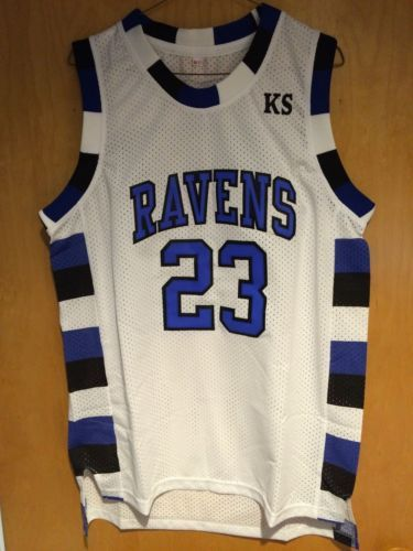 65fc855ebfe8 One-Tree-Hill-Nathan-Scott-23-Ravens-White-Basketball-Jersey-S-M-L-XL-2XL