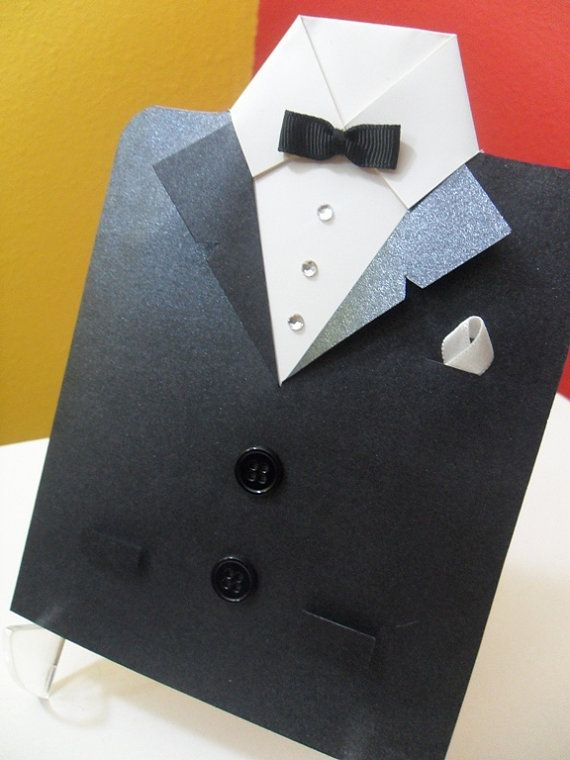 fathers day tuxedo card suit and tie groom s card s day card tuxedo coat 4451