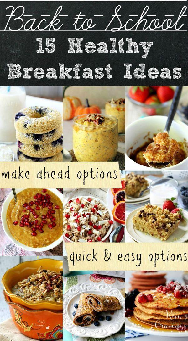 Healthy Back To School Breakfast Ideas Breakfast For Kids Breakfast On The Go Quick Breakfast
