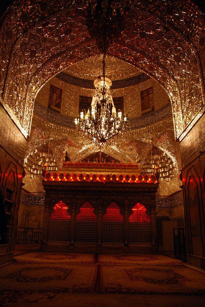 inside shrine of imam hussain as in karbala iraq