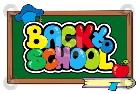 back to school theme 4 stock vector back to school clipart rh pinterest co uk back to school clipart images back to school clipart black and white