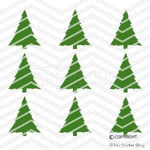 strijkapplicatie set kerstboompjes decoratie kleuren