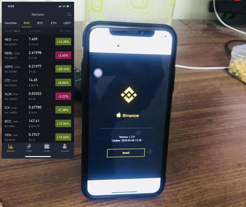 Binance App install on iPhone, iPad Not on App Store Iphone