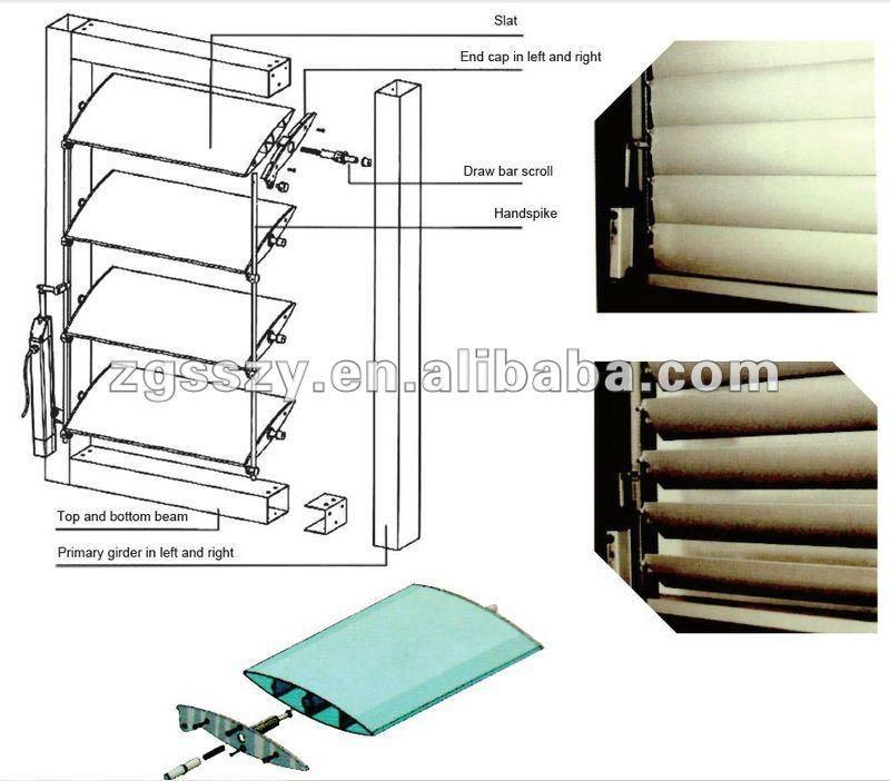 Adjustable Customized Sized Aluminium Exterior Louver Buy