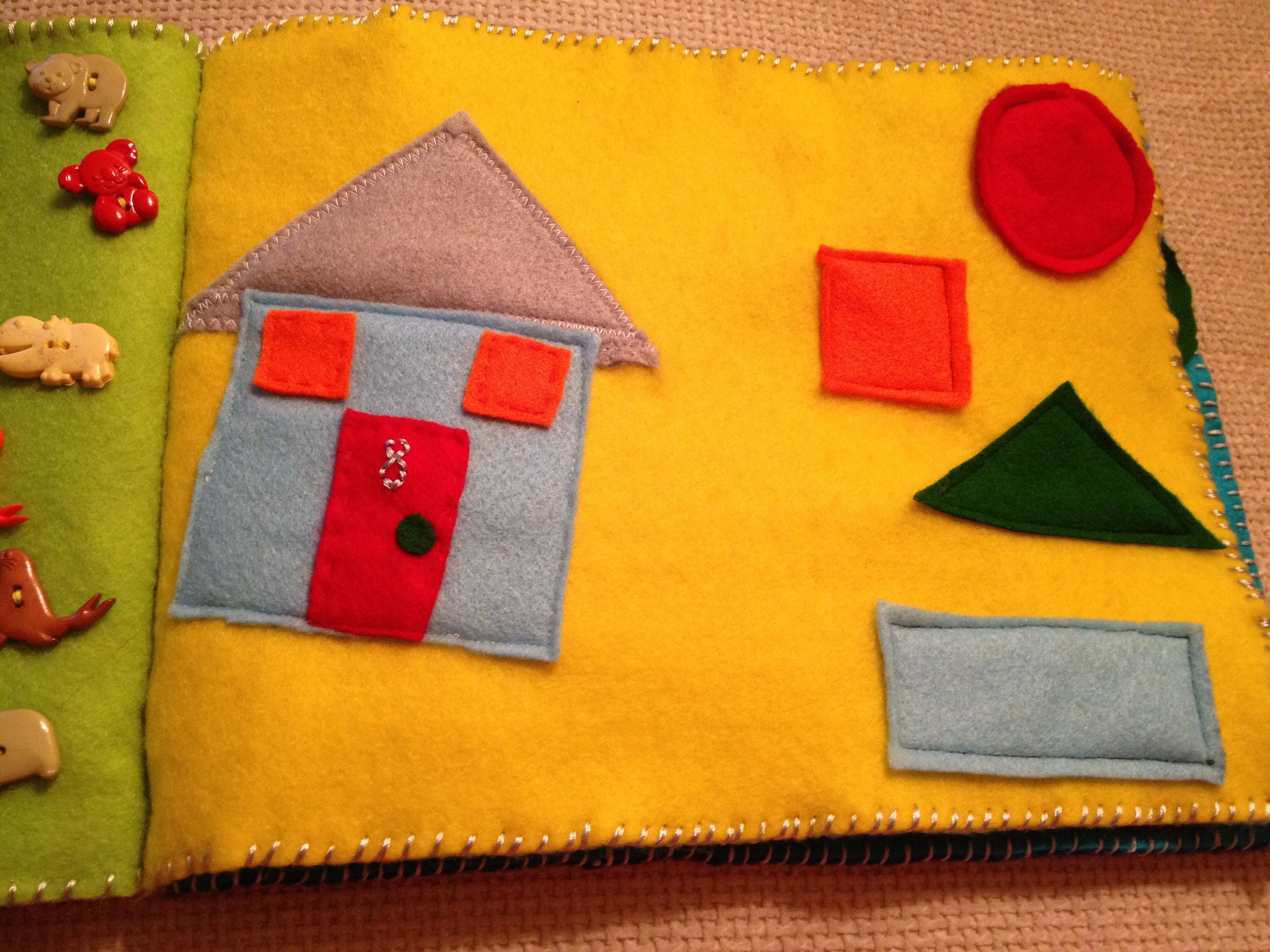 Shapes with house made from the shapes