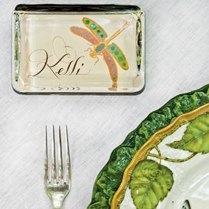 Stylish Alfresco Dining | Double-Duty Place Cards | SouthernLiving.com Tablescape by Kimberly Schlegel Whitman