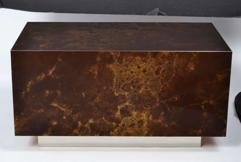"Vintage Gold Leaf ""Altuglass"" coffee table"