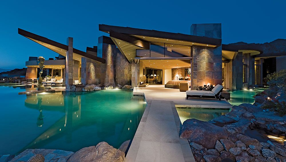 Superlative Residence at Bighorn Golf Club in Palm Desert by Architect Guy Dreier