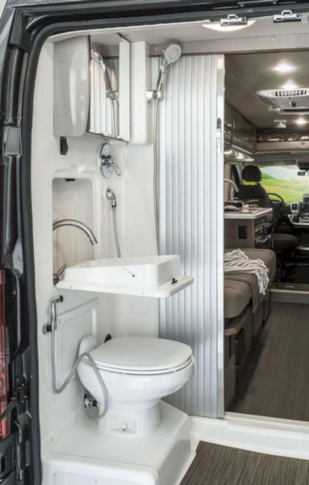 40 Small RV Bathroom Remodel Ideas #smallrvbathroom # ...
