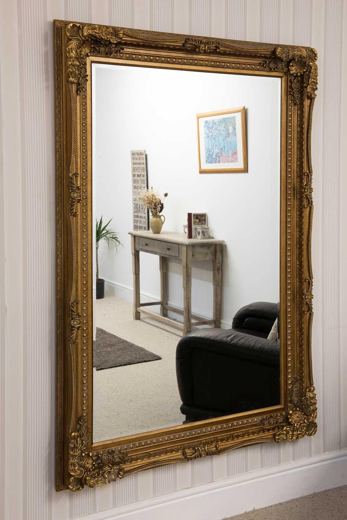 093414e8228 Charlton Gold Framed Mirror 123x175cm - Soraya Interiors UK Large Mirrors  For Sale