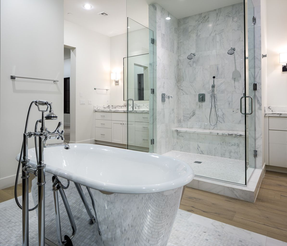 Waterworks Marble & Plumbing, Chrome Tub, Restoration Hardware ...