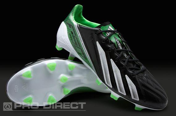 adidas f50 leather black green