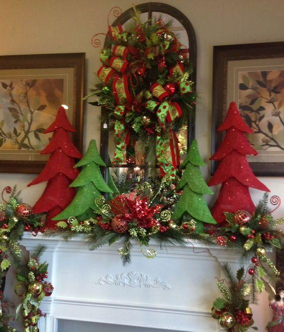 Mantel Arrangements: Gorgeous Christmas Floral Arrangements