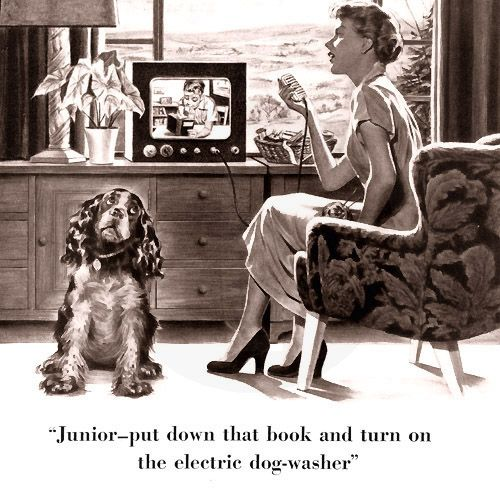 Vintage ad with Cocker Spaniel