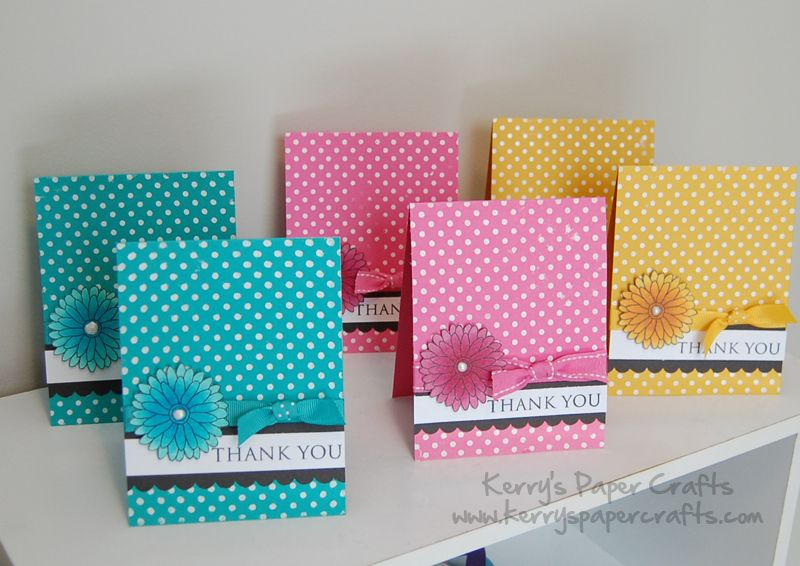 Collection Of Thank You Cards Simple Birthday Cards Greeting Cards Handmade Simple Cards