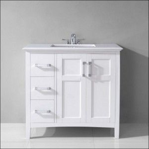 Modern And Simple 30 Inch White Bathroom Vanity With Drawers Endearing Bathroom Vanity 30 Inch Decorating Design