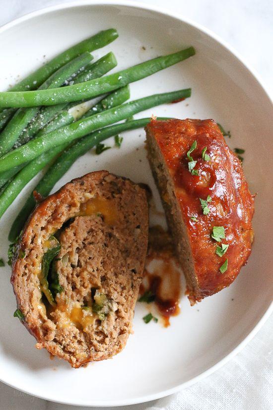 Cheese Stuffed Turkey Meatloaf Recipe Turkey Meatloaf