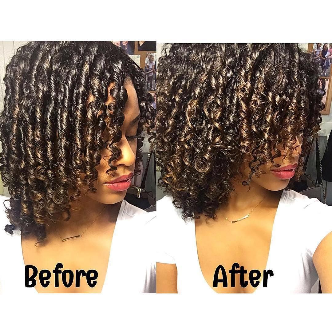 Marvelous Finger Coils Before And After Shot Finger Coiling Defines My Short Hairstyles For Black Women Fulllsitofus
