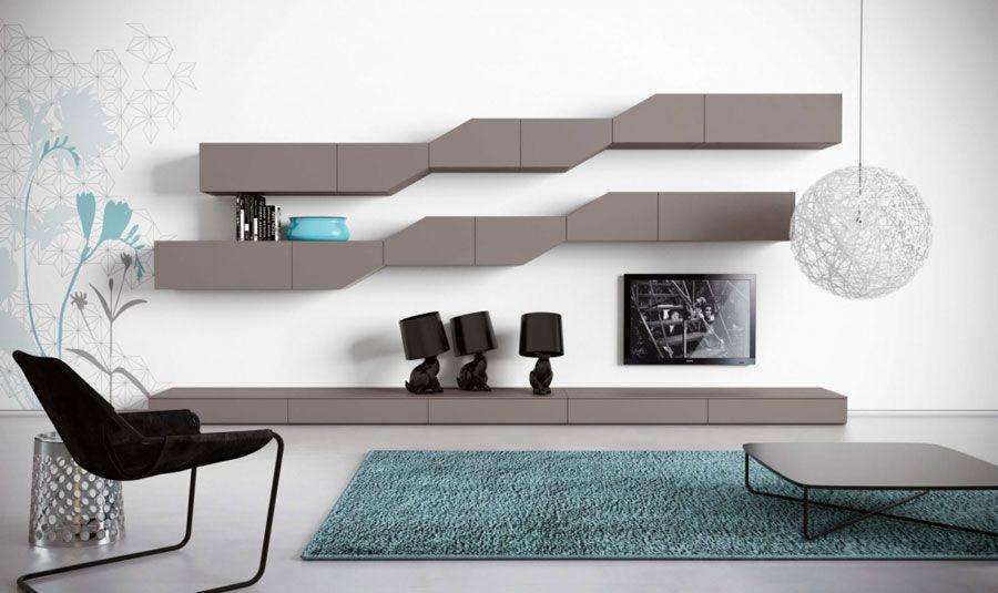 pareti attrezzate moderne: 70 idee di design per arredare casa ... - Parete Attrezzata Moderno