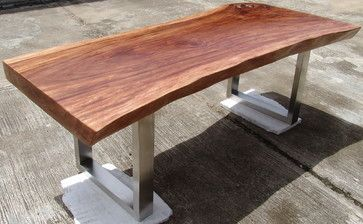 Delicieux Reclaimed Solid Slab Acacia Wood Dining Table By Flowbkk  Contemporary Dining Tables
